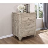 Jude 3 - Drawer Nightstand in Light Gray by Gracie Oaks
