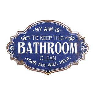 Bathroom Wall Signs Wayfair