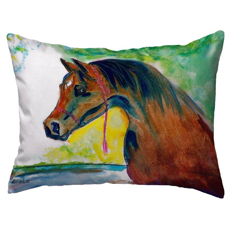Highland Dunes Shriner Prize Horse Indoor Outdoor Lumbar Pillow Wayfair