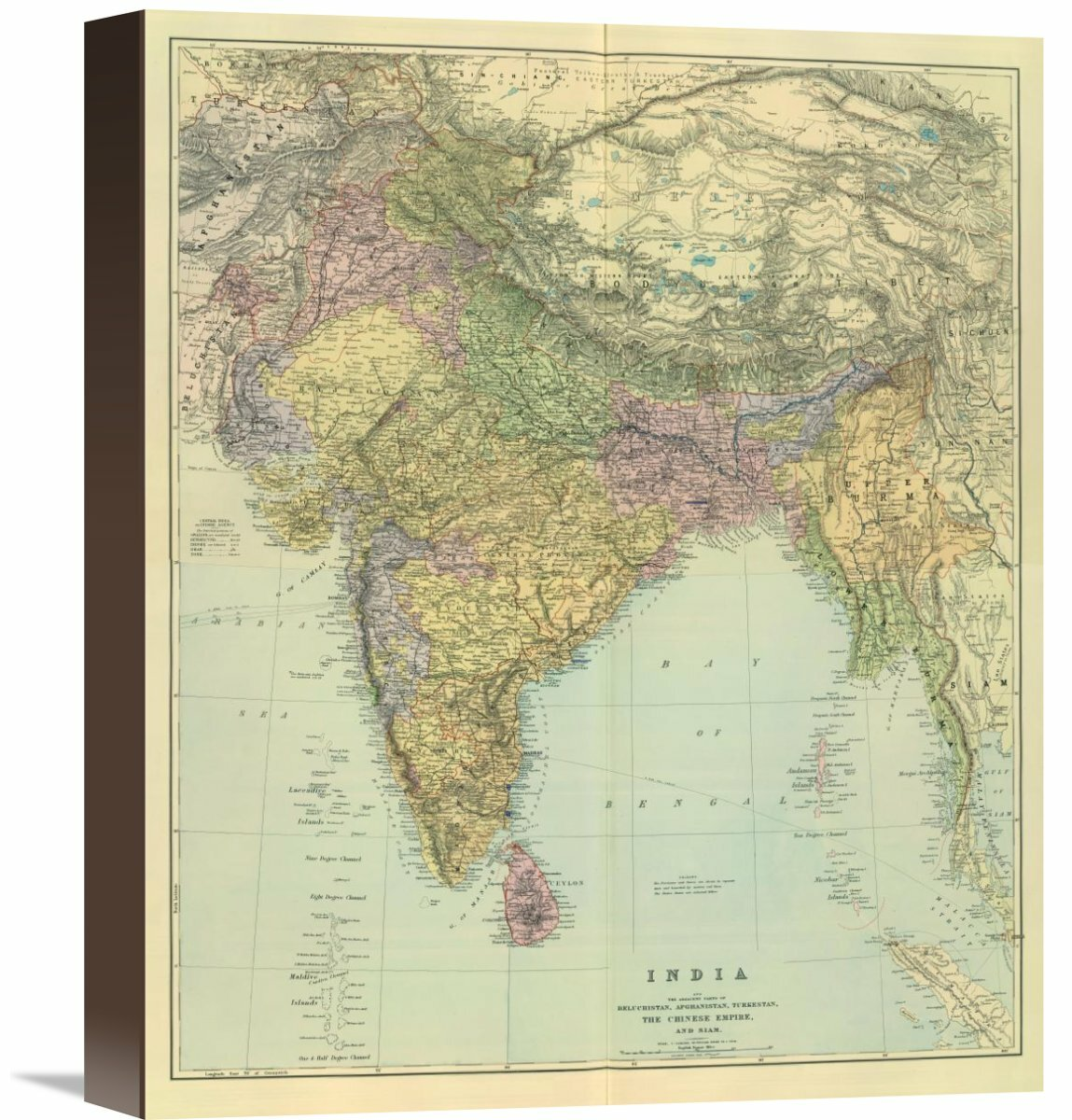 Global Gallery Composite India 1901 By Edward Stanford Graphic Art On Wrapped Canvas Wayfair