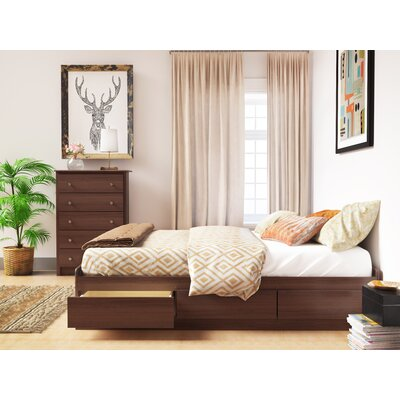 Oleanna Storage Platform Bed Zipcode Design? Color: Cherry, Size: Queen