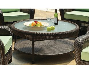 Spradley Key West Round Wicker Chat Table
