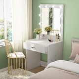 Dumais Vanity with Mirror by Everly Quinn