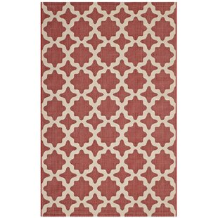 Hervey Bay Moroccan Red/Beige Indoor/Outdoor Area Rug by Charlton Home