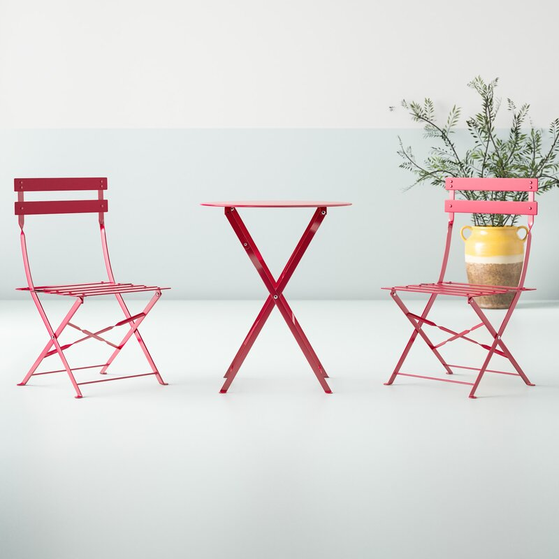 affordable outdoor 3 piece bistro set