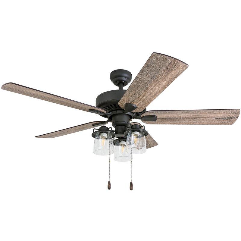 52 Lorinda 5 Blade Standard Ceiling Fan With Light Kit Included Reviews Joss Main