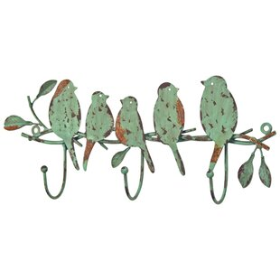 Birds On Branch Wall Mounted Coat Rack By Brambly Cottage