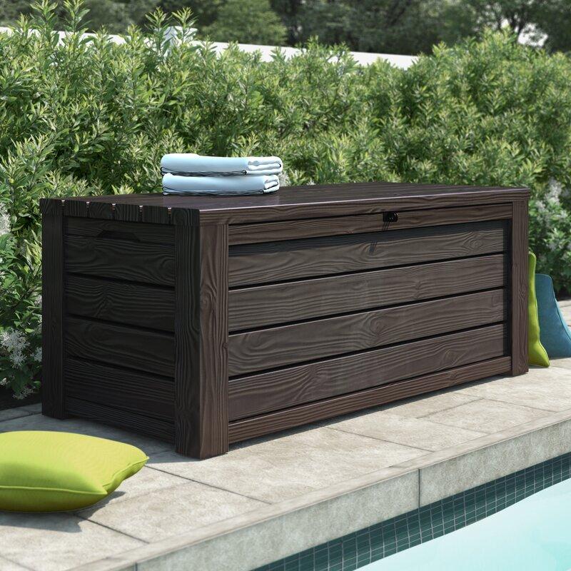 Sol 72 Outdoor Yancy 150 Gallon Resin Deck Box Reviews Wayfair