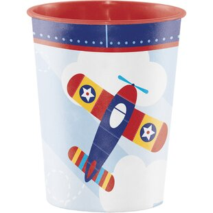 Toy Airplane Plastic Disposable Cup (Set of 8)