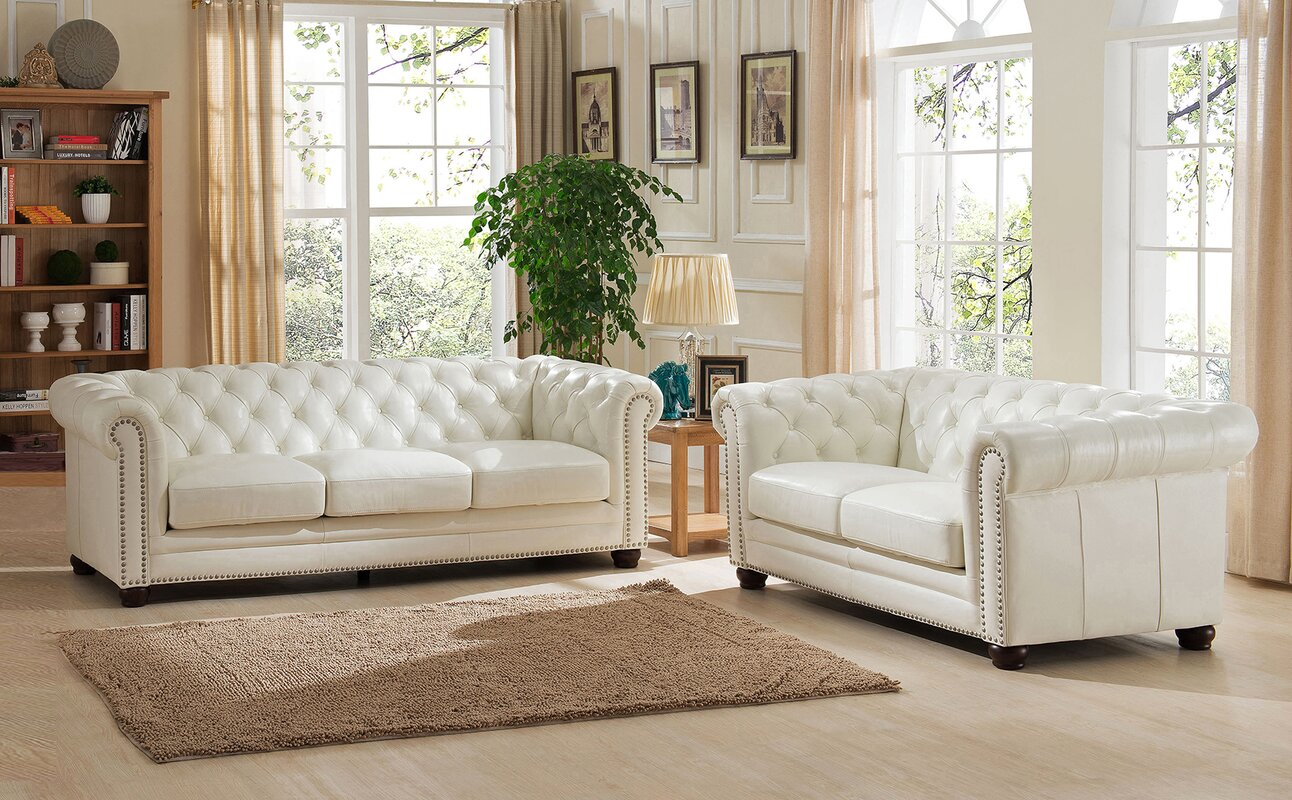 Amax Nashville 2 Piece Leather Living Room Set & Reviews | Wayfair