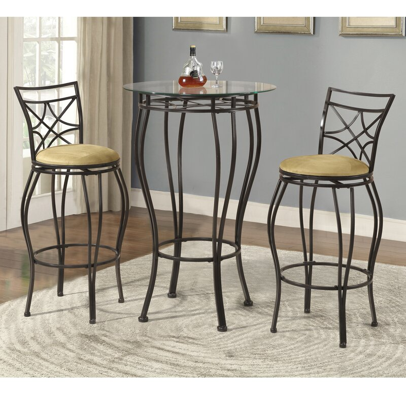 Alcott Hill Northridge 3 Piece Pub Table Set & Reviews | Wayfair