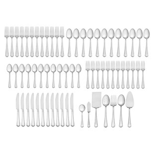 Carleigh 67 Piece Flatware Set, Service for 12