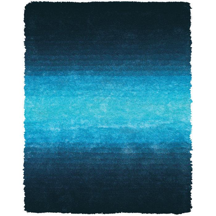 Wrought Studio Sapienza Handmade Tufted Blue Area Rug Wayfair
