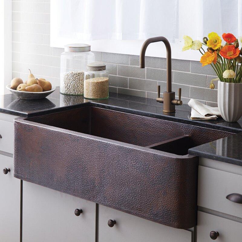 Double Basin Farmhouse Kitchen Sink