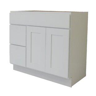 Shaker Cabinet 36 Single Bathroom Vanity Base by NGY Stone & Cabinet