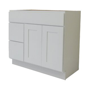 Shaker Cabinet 42 Single Bathroom Vanity Base by NGY Stone & Cabinet