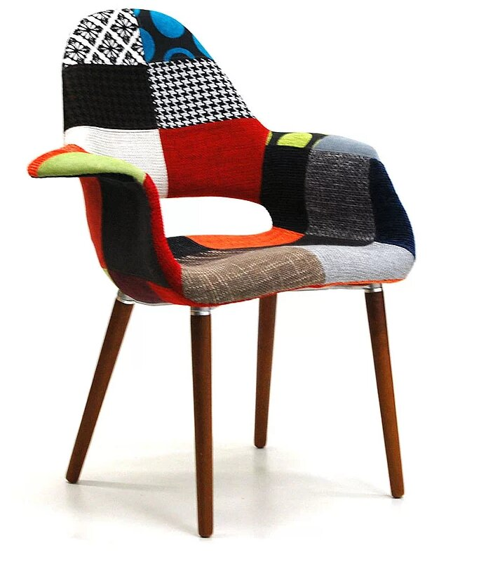 Mckellar Patchwork Arm Upholstered Dining Chair By Wrought