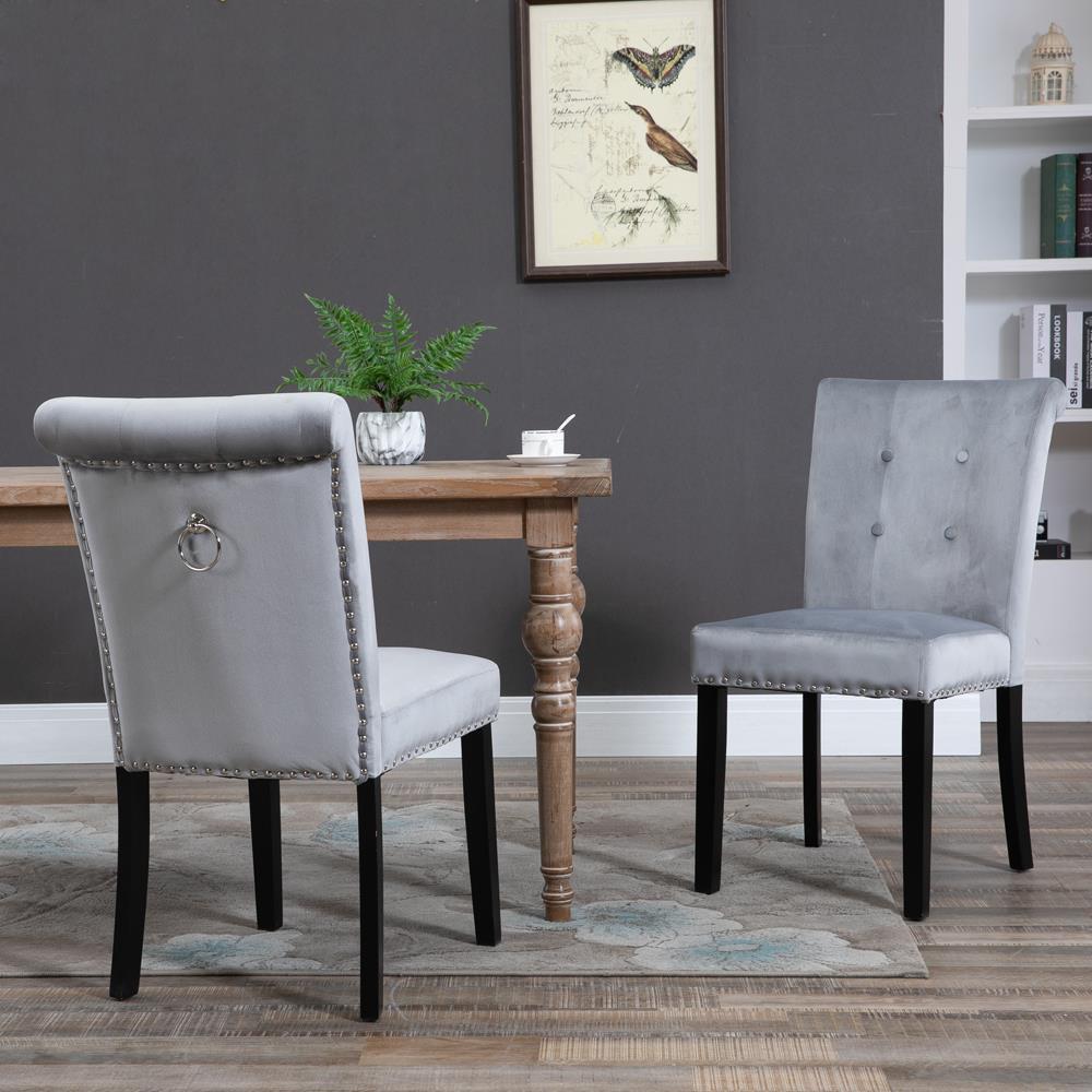 Rosdorf Park Kluge Tufted Velvet Upholstered Wingback Side Chair Wayfair