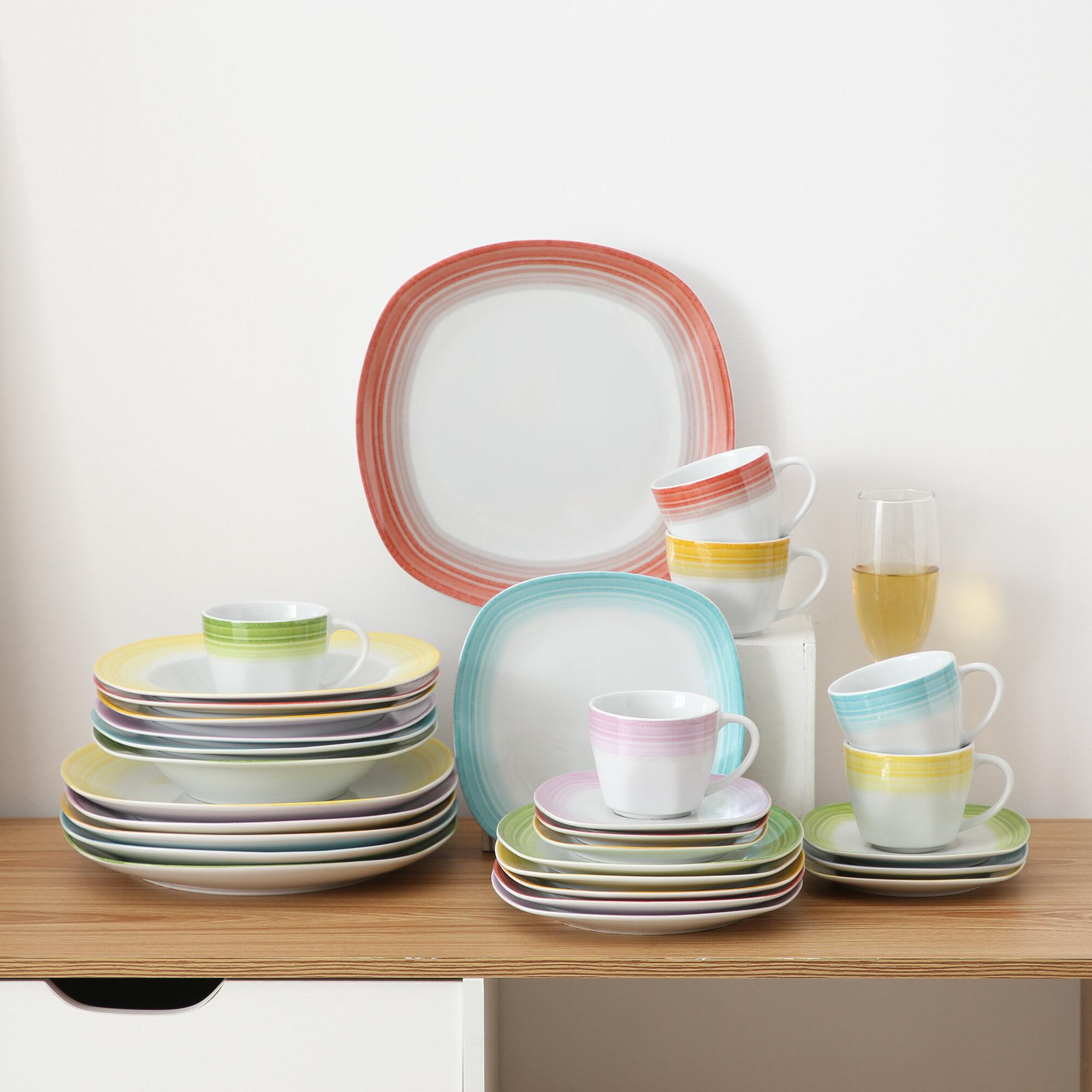 Orren Ellis Bowerville 30 Piece Dinnerware Set Service For 6 Reviews Wayfair