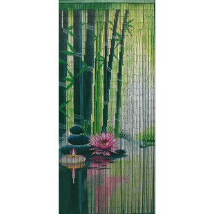 Serenity Zen Bamboo Beaded Single Curtain Panel