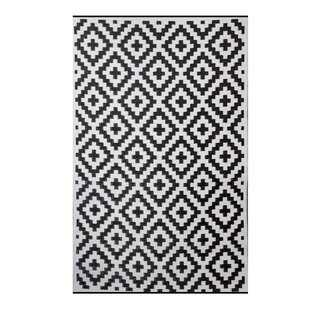 Price comparison Premier Home Hand-Woven Black/White Indoor/Outdoor Area Rug By Fox Hill Trading