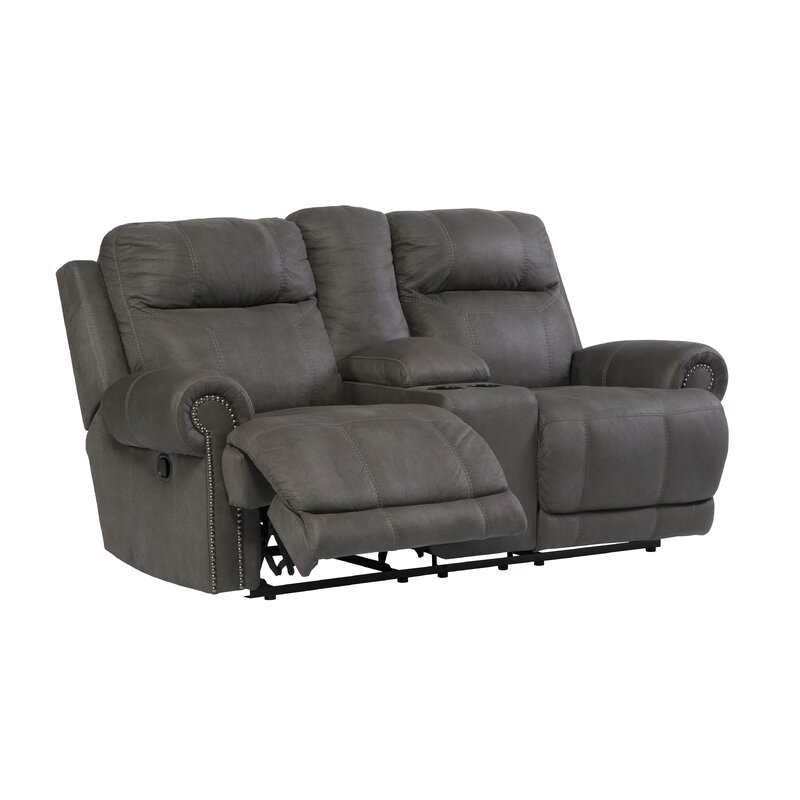 open acieona htm with sd loveseat double reclining slate ashley from console