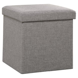 Wicker Basket Storage Ottoman | Wayfair
