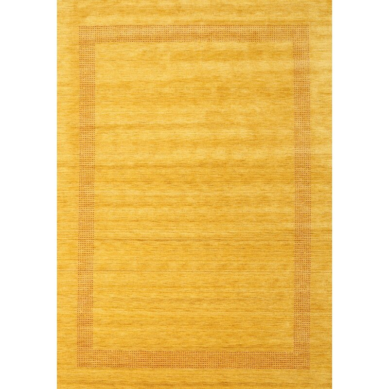 Ebern Designs Riehle Contemporary Yellow Area Rug Wayfair