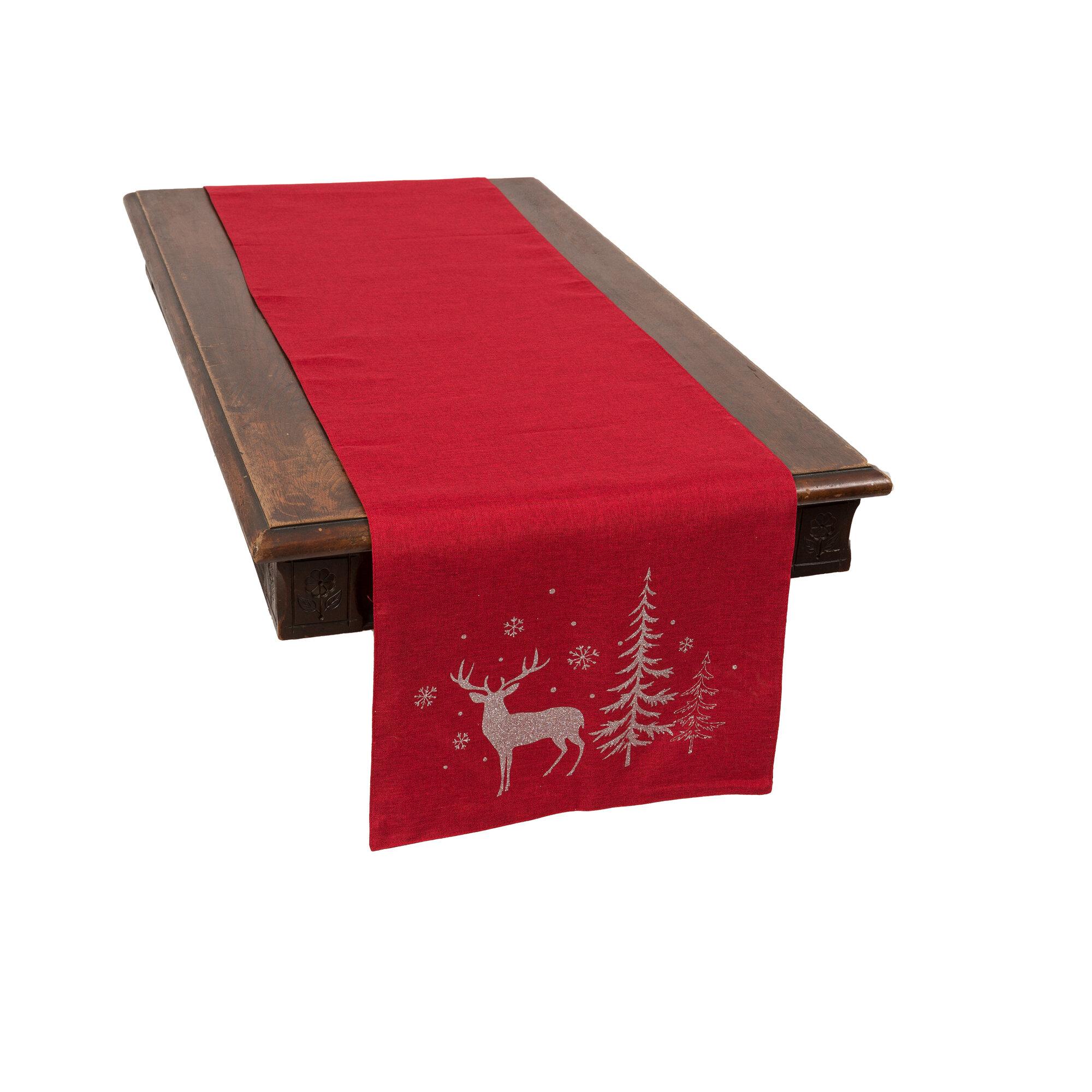 The Holiday Aisle Adlai Deer Table Runner Reviews Wayfair