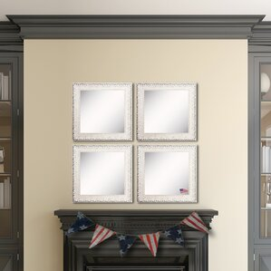 Ava French Victorian White Wall Mirror Set Of 4