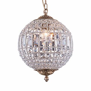 Franz 1-Light Crystal Pendant by Astoria Grand