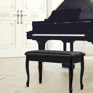 Winston Porter Cirillo Upholstered Storage Piano Bench