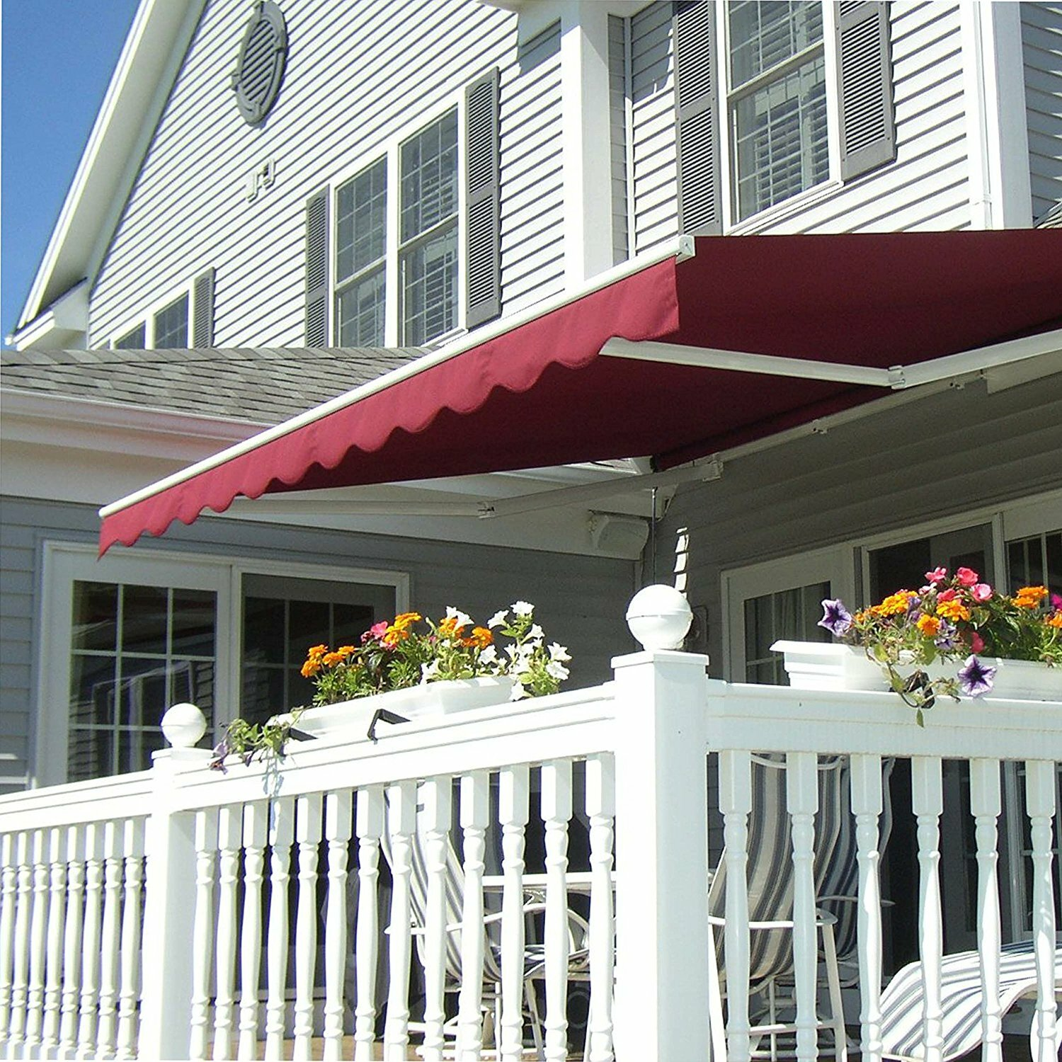 the latest 2e702 5f63f ALEKO 16 ft. W x 10 ft. D Retractable Patio Awning & Reviews ...