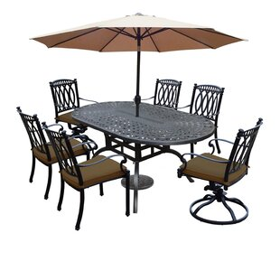 Darby Home Co Otsego 7 Piece Rust Resistant Aluminum Dining Set with Cushions