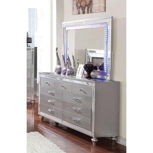 House of Hampton Meserve 7 Drawer Dresser with Mirror
