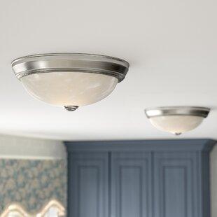 Fitchburg 2-Light Flush Mount (Set of 2) By Charlton Home Ceiling Lights