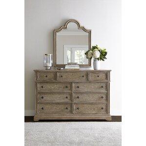 Wethersfield Estate 9 Drawer Dresser with Mirror by Stanley Furniture