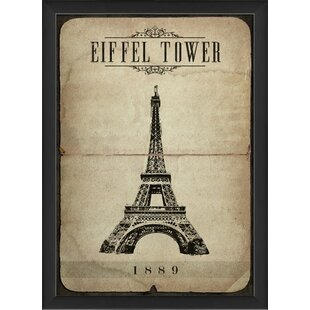 Eiffel Tower Framed Graphic Art Print