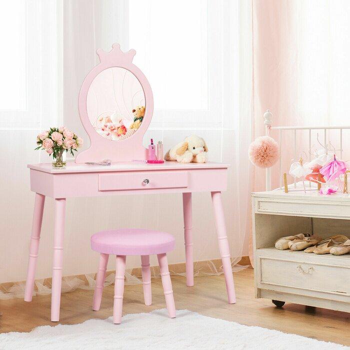 Tremendous Lebrun Kids Makeup Vanity Set With Mirror Creativecarmelina Interior Chair Design Creativecarmelinacom