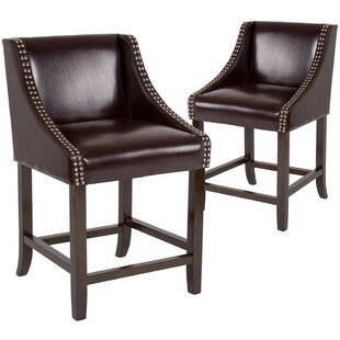 Michels 24 Bar Stool (Set of 2) by Alcott Hill