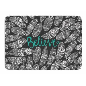 Believe in Yourself by Pom Graphic Design Memory Foam Bath Mat