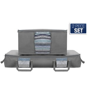 Reviews Foldable Canvas Underbed Storage Bag By Rebrilliant