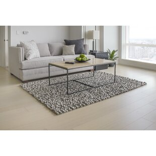 Price Check Wool Felt Hand-Tufted Gray/White Area Rug ByMats Inc.