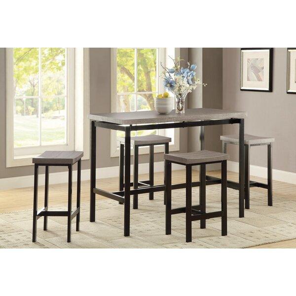 Williston Forge Mccreery 5 Piece Counter Height Dining Set | Wayfair
