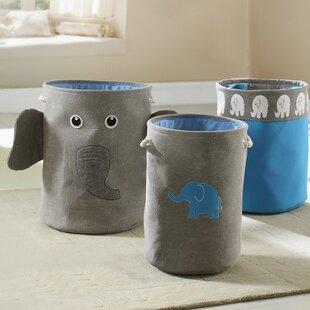 Bintopia 3 Piece Elephant Laundry Set