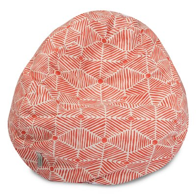 "Ashby Bean Bag Chair Upholstery Color: Salmon, Size: 22"" H x 28"" W x 28"" D by Trule Teen"