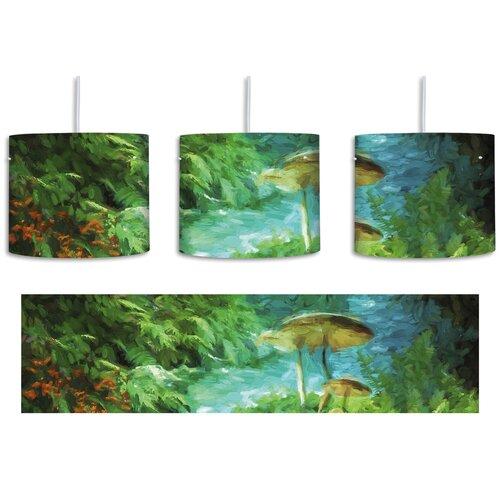 Magic Fairytale Forest 1-Light Drum Pendant East Urban Home