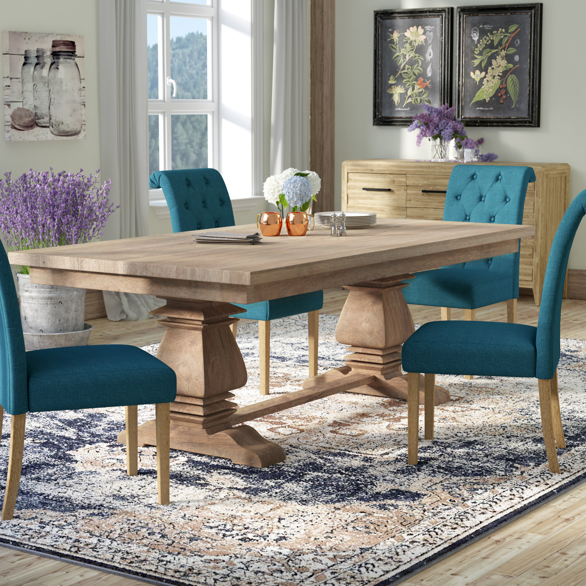 One Allium Way Pannell Balustrade Dining Table Reviews