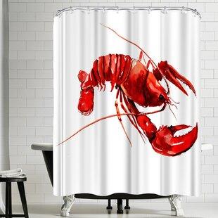 East Urban Home Suren Nersisyan Lobster Shower Curtain