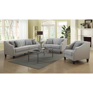 Price comparison Harlan 3 Piece Living Room Set by Rosdorf Park Reviews (2019) & Buyer's Guide